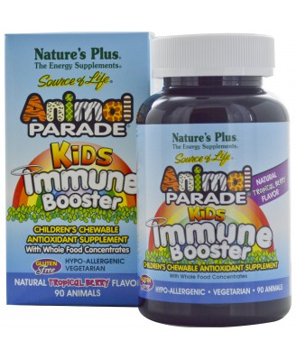 Kids Immune Booster, Natural Tropical Berry Flavor (90 Animals) - Nature's Plus