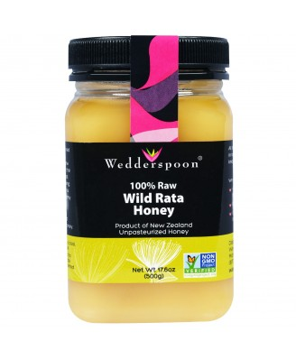 100% Raw Wild Rata Honey (500 gram) - Wedderspoon Organic