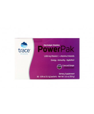 Trace Minerals Research, Electrolyte Stamina Power Pak, Pomegranate Blueberry, 0.22 oz (6.2 g), 32 Packets