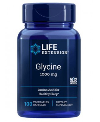 Glycine 1000 mg - 100 vegetarische Capsules  - Life Extension