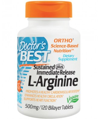 Doctor's Best, L-Arginine, 500 mg, 120 Bilayer Tablets