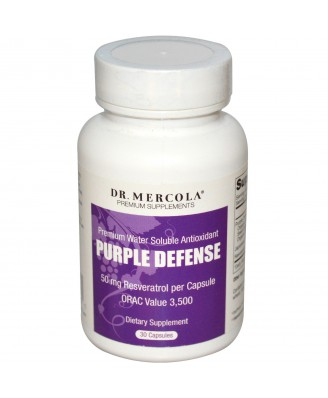 Purple Defense - Premium Water Soluble Antioxidant (30 Capsules) - Dr. Mercola