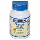 Optimized Folate 1000 mcg (100 Veggie Tabs) - Life Extension