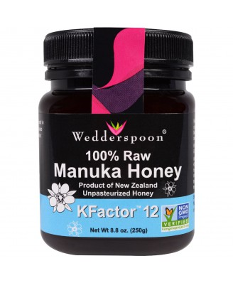 100% Raw Manuka Honey KFactor 12 (250 gram) - Wedderspoon Organic