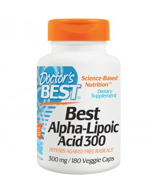 Doctor's Best, Best Alpha-Lipoic Acid 300, 300 mg, 180 Veggie Caps