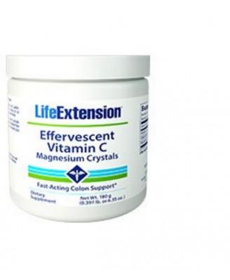 Sprudelnde Vitamin C - Magnesiumkristalle -180 gr - Life Extension
