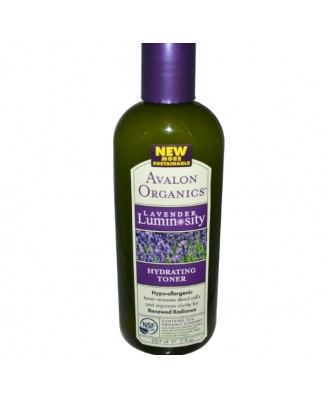 Avalon Organics, Hydrating Toner, Lavender Luminosity, 7 fl oz (207 ml)