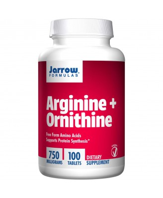 Arginine + Ornithine 750 mg (100 Tablets) - Jarrow Formulas
