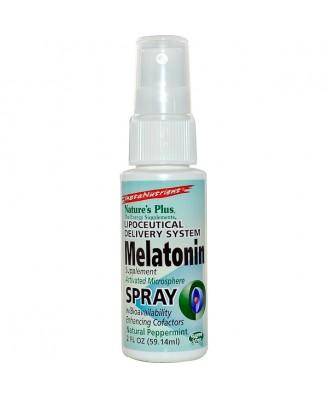 Nature's Plus, InstaNutrient, Melatonin Supplement Spray, Natural Peppermint, 2 fl oz (59.14 ml)