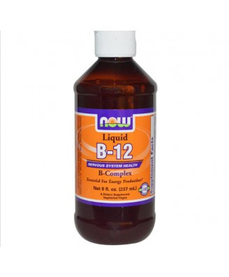 Now Foods, B-12, flüssig, B-Komplex, 8 Fl Oz (237 ml)