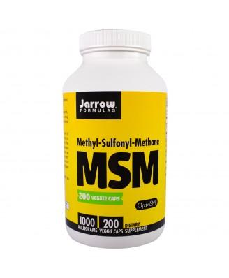 MSM Methyl-Sulfonyl-Methane 1000 mg (200 Veggie Caps) - Jarrow Formulas
