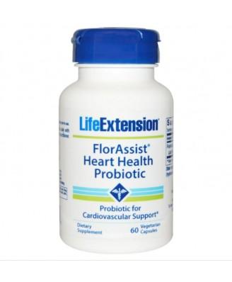 FlorAssist Herzen Gesundheit Probiotic - 60 vegetarische Kapseln - Life extension