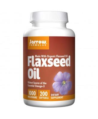 Organic Flaxseed Oil 1000 mg (200 Softgels) - Jarrow Formulas