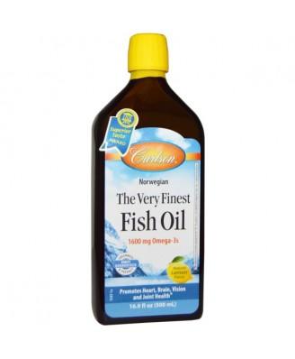 Norwegian - The Very Finest Fish Oil - Natural Lemon Flavor (500 ml) - Carlson Laboratories