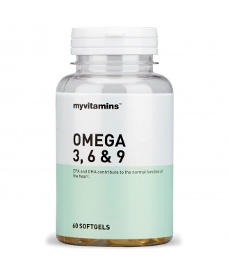 Myvitamins Omega 3, 6 & 9, 180 Soft Gels (180 Softgels) - Myvitamins