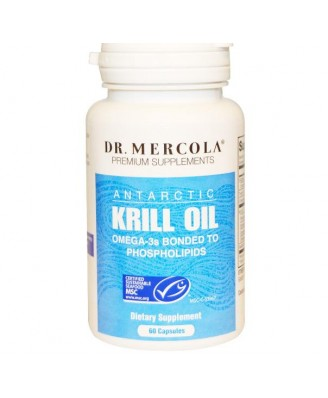 Krill-Öl, 60 Fisch-Gelatine Caplique Caps - Dr. Mercola