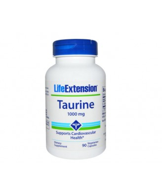 Taurine 1000 mg (90 vegetarian capsules) - Life Extension