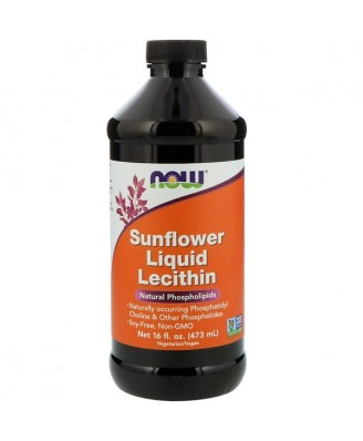 Sunflower Liquid Lecithin (473 ml) - Now Foods