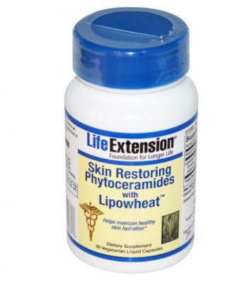 Life Extension, Haut wiederherstellen Phytoceramides mit Lipowheat, 30 Veggie Liquid Caps