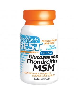 Doctor's Best, Glucosamine Chondroitin MSM, 360 Capsules