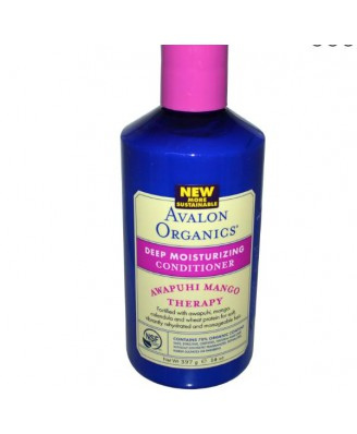 Avalon Organics, Tiefe feuchtigkeitsspendende Conditioner, Awapuhi Mango Therapie, 14 Unzen (397 g)