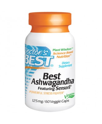 Best Ashwagandha Featuring Sensoril 125 mg (60 Veggie Caps) - Doctor's Best