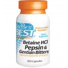 Doctor's Best, Betaine HCl, Pepsin & Gentian Bitters, 360 Capsules
