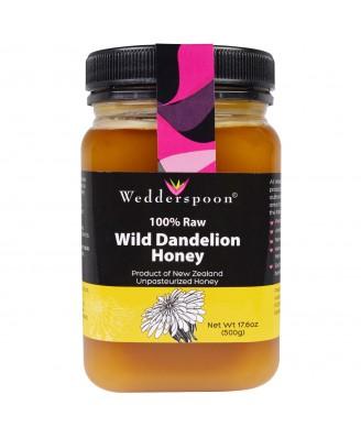 100% Raw Wild Dandelion Honey (500 gram) - Wedderspoon Organic