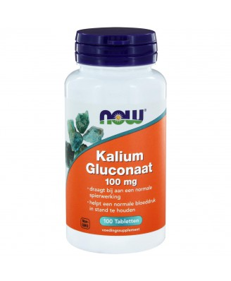 Kalium Gluconaat 100 mg (100 tabs) - NOW Foods