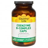 Country Life, Gluten Free, Coenzyme B-Complex Caps, 120 veggie caps