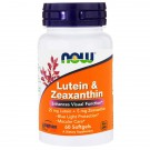 Lutein & Zeaxanthin (60 softgels) - Now Foods
