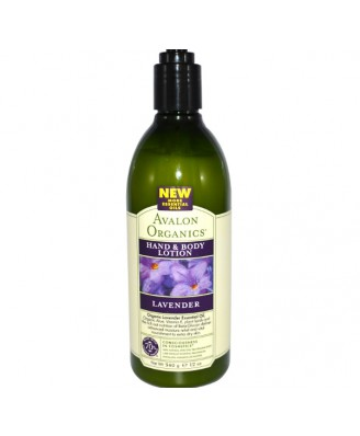Avalon Organics, Hand & Bodylotion, Lavendel, 12 Unzen (340 g)