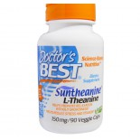 Doctor's Best Suntheanine L-Theanin (150mg) pflanzliche Kapseln, 90-count