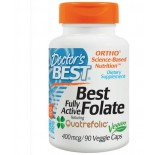Doctor's Best, Best Folate Fully Active Featuring Quatrefolic 400 mcg, 90 Veggie Caps