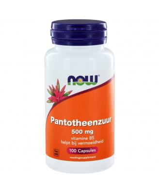 Pantotheenzuur 500 mg (B-5) (100 capsules) - Now Foods