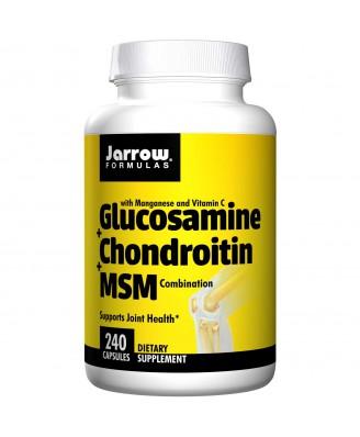 Jarrow Formulas, Glucosamine + Chondroitin + MSM Combination, 240 Capsules