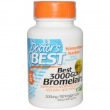 Best 3000 GDU Bromelain 500 mg (90 Veggie Caps) - Doctor's Best