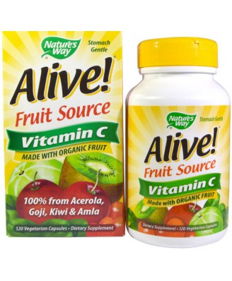 Nature's Way, Alive!, Vitamin C, 100% Whole Food Complex, 120 Vcaps