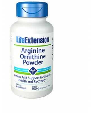 Arginin Ornithin Pulver 150 Gramm (5,29 Oz) - Life Extension