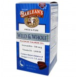 Barlean's, Wild & Whole Alaskan Salmon Oil, 800 mg , 180 Softgels