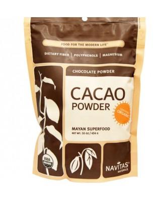 Kakaobohnen , Pulver, Raw & Organic (454 Gramm) - Navitas Naturals