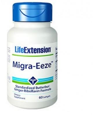 Migra-Eeze Standardisierte Pestwurz-Ingwer-Riboflavin-Migräneformel, 60 Weichkapseln - Life Extension