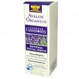 Avalon Organics, Renewal Facial Serum, Lavender Luminosity, 1 fl oz (30 ml)