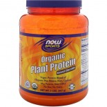 Organic Plant Protein- Natural Chocolate (907 gram) - Now Foods