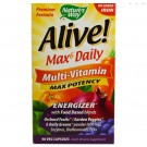 Nature's Way, Alive! Whole Food Energizer Multi-Vitamin, Max Potency, No Added Iron, 90 Vcaps