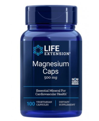 Magnesium Caps 500 mg (100 Veggie Caps ) - Life Extension