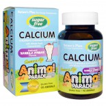Calcium, Sugar Free, Natural Vanilla Sundae Flavor (90 Animals) - Nature's Plus