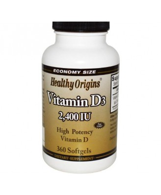 Vitamin D3- 2400 IU (360 Softgels) - Healthy Origins