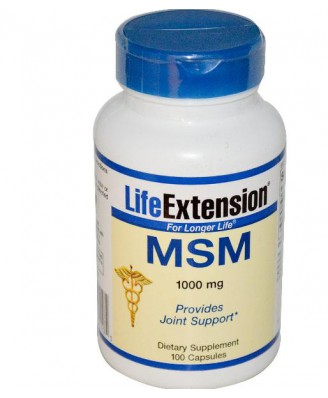 Life Extension, MSM 1000 mg, 100 Capsules