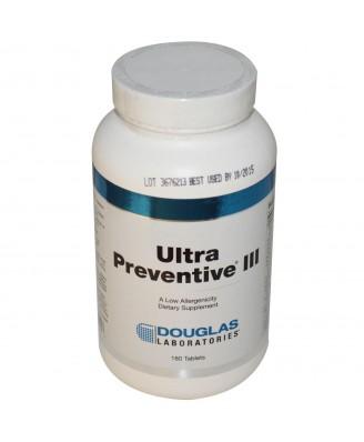 Douglas Laboratories, Ultra Preventive III, 180 Tablets